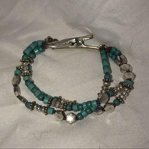 Lucky Brand turquoise beaded bracelet